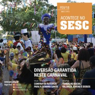 Acontece no Sesc - fevereiro 2018 - capa