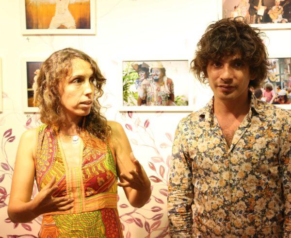 Escritores Valeria Rey Soto e Habib Zahra