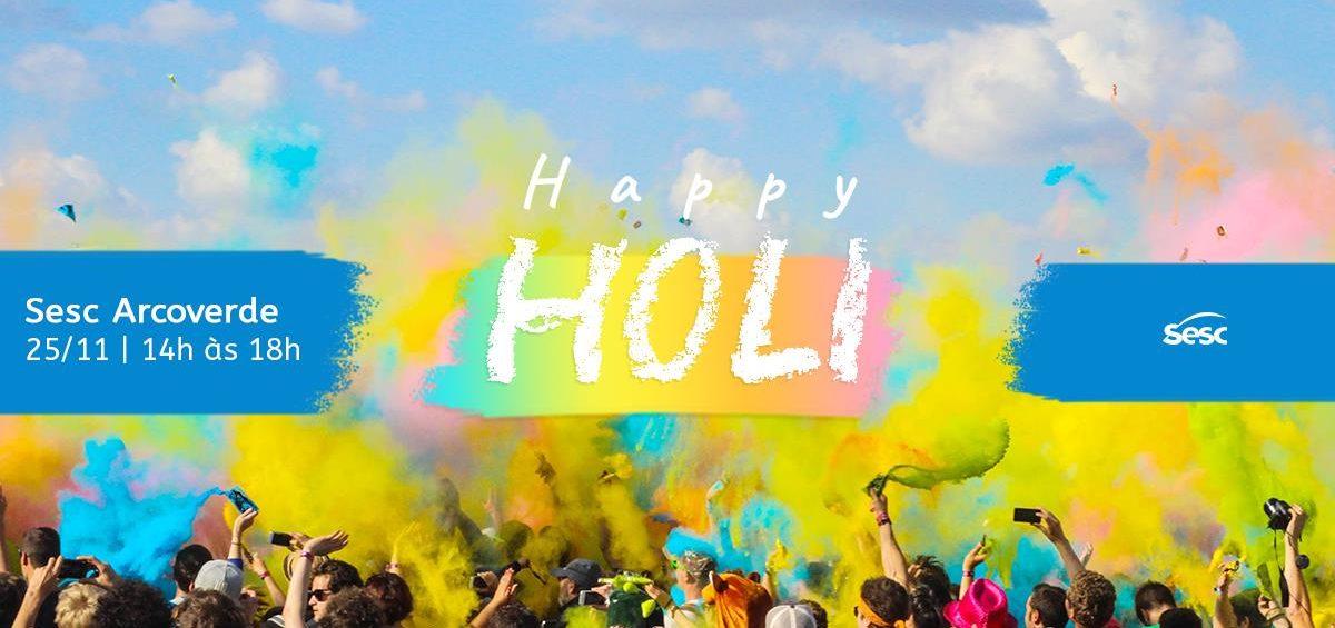 Festa Happy Holi Sesc Arcoverde