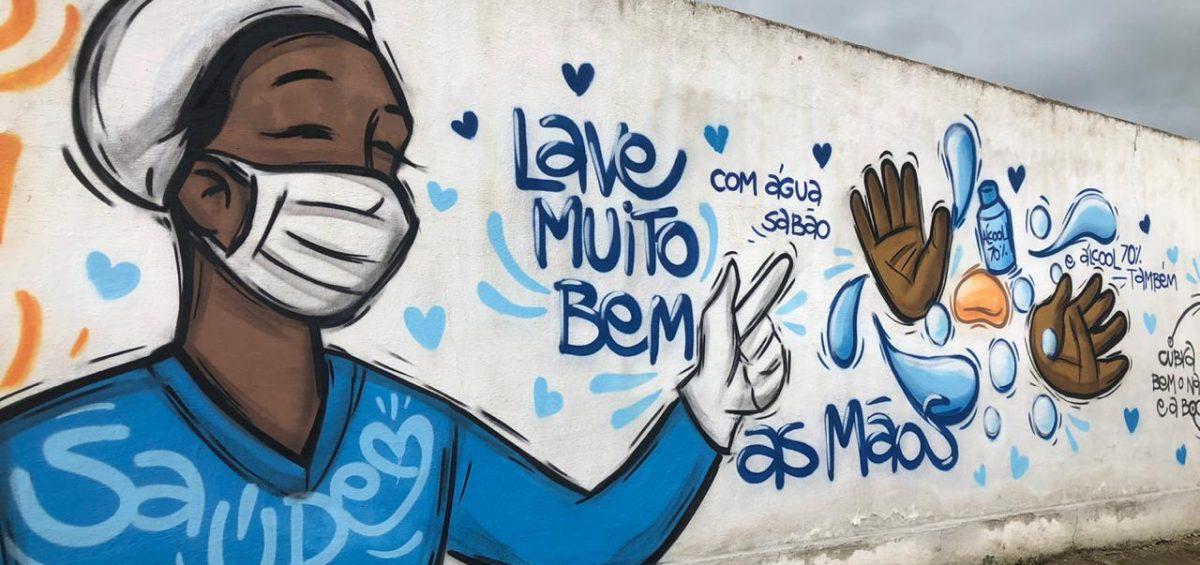 Painel Covid grafitagem - foto divulgação